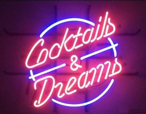 """New Cocktail And Dreams Neon Sign Beer Bar Pub Gift Light 17/""""x14/"""""""