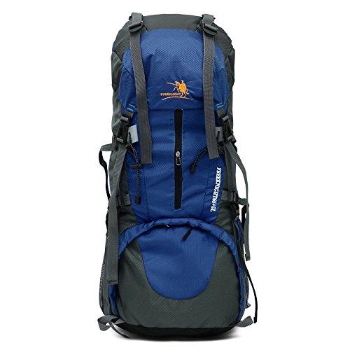 Bergsteigen Bag 65L+5L Outdoor Männer und Frauen Schulter Rucksack große Kapazität Wanderpackage Bergsteigen Taschen , schwarz