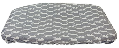 Changing Pad Cover For Baby Boys & Girls By Danha – 100% Soft, Ultra-Plush Polyester – Universal, Elastic Trim Edges Design – Unisex Deer Head Patterns – Stain Resistant & Machine Washable