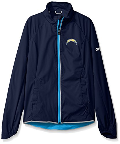 Jacket Full Licensed Zip (GIII For Her NFL San Diego Chargers Women's Batter Light Weight Full Zip Jacket, XX-Large, Navy)
