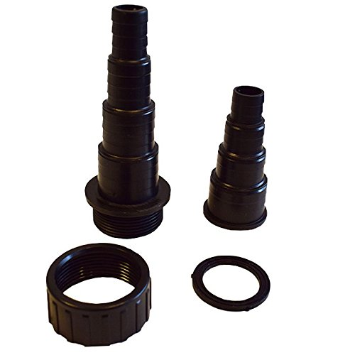 Rosca de pl/ástico, 40 mm//35 mm allpondsolutions BSP Adaptador para Manguera de Estanque