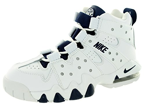 Nike - Air Max CB '94 (GS) zapato de baloncesto White/Midnight Navy/Mtllc Slvr