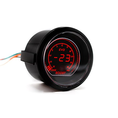 CNSPEED 2'' 52mm Car EVO Digital Turbo Boost Gauge Psi Meter With Sensor Turbo Boost Meter:
