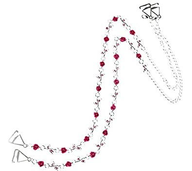 TreasureBay - Tirantes para sujetador, 1 par, ajustables, diseño con diamantes, color rosa: Amazon.es: Joyería