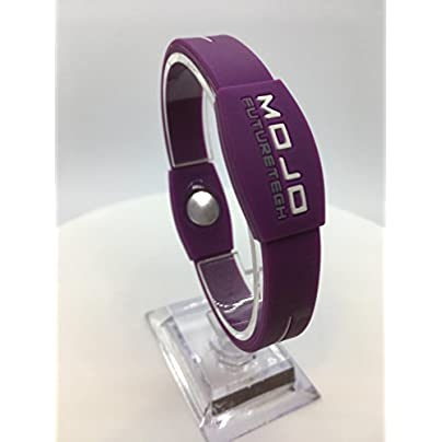 Mojo Elite inch Double Holographic wristband Purple Grey White Estimated Price £35.00 -
