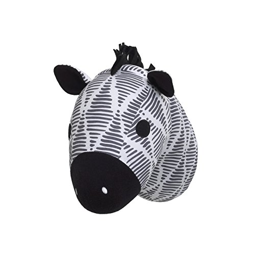 NoJo Head Printed Wall Decor, Black/White/Grey/Zebra