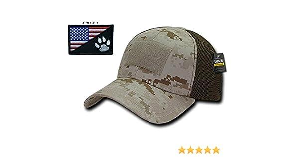 177a1c3b27b Amazon.com  Elite Gear Operator Cap Bundle w USA Blackwater Tracker Patch   Clothing