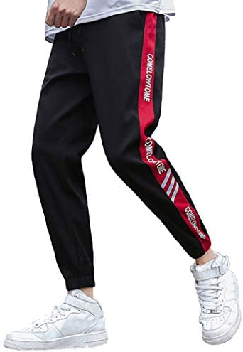 ジョガーパンツ メンズ トラックパンツ ラインパンツ レディース ストライプ テーパード トレーニング ウェストゴム 黒