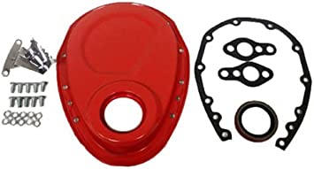 ALUMINUM Compatible//Replacement for CHEVY SB 283-305-327-350-400 TIMING CHAIN COVER BLACK