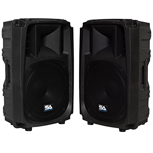 Seismic Audio - L_Wave-15-Pair - Pair of Powered 2-Way 15