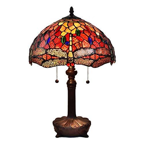 Amora Lighting AM1035TL14B Tiffany Table Lamp, Multicolor