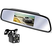 Mirror Camera For Car Rear View Monitor System 5 Inch LCD Monitor Screen 7 LED Light Great Night Version Will be ZEROXCLUB S05
