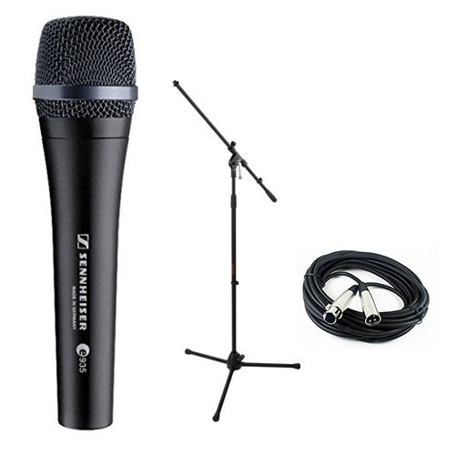 Sennheiser E935 Dynamic Handheld Vocal Mic with Stand & Cable Performance Kit by Sennheiser,