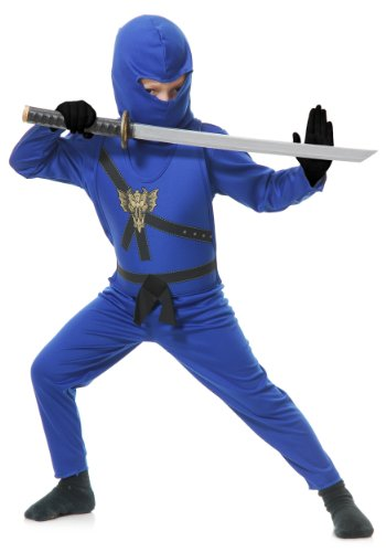 Charades Boys' Ninja Master Costume Medium Blue -
