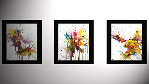 3 Expressive Chaotic Series Paintings 4168.4169.41