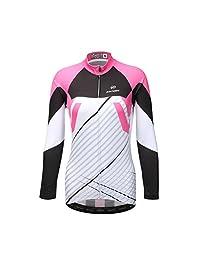 DuShow Women Thermal Fleece Cycling Jersey Shirt Long Sleeves Winter Jacket TOP