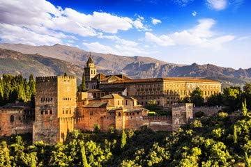 Ancient Arabic Fortress of Alhambra, Granada, España, (58962710), lona, 90 x 60 cm: Amazon.es: Hogar