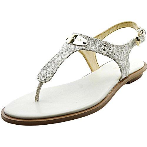 Toe Open Michael Kors Sandals (Michael Michael Kors Womens Plate Thong Open Toe Casual Slide, Vanilla, Size 8.0)