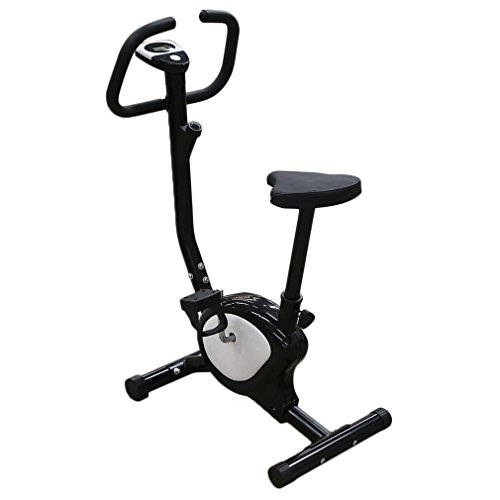 Belovedkai Exercise Bike Cardio Fitness Cycling Machine Gym Workout Training Stationary Fitness Cycle Cardio Aerobic Equipment Home Black and White