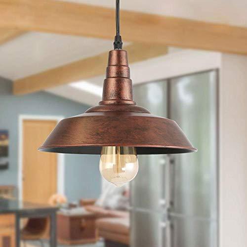 LNC A0190702 - Lámpara de techo para cocina, diseño rústico de granero, col