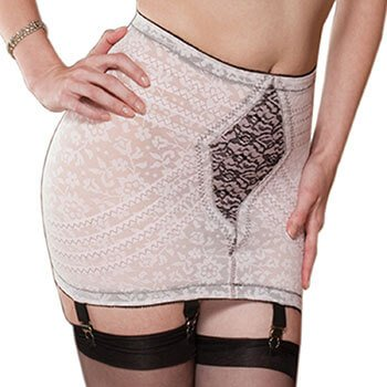 Rago Women's Extra Firm Shaping Open Bottom Fashion Girdle, Pink/Black, Large (30)