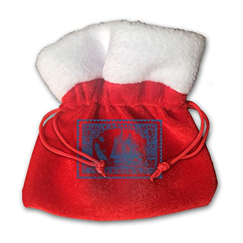 (XFEQAZV Clipart Bluenose Canadian Stamp Personalized Bag Christmas Tradition and Nice Decorations Bags)