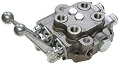 """CROSS Manufacturing 138666 SBA-ORB Series Cast Iron Double Spool Monoblock Hydraulic Directional Control Valve, 3-Position, 4-Way, Closed Centered, 1-1/16""""-12 x 1-1/16""""-12 x 3/4""""-16 SAE Female, 3000 psi, Grey by CROSS Manufacturing"""