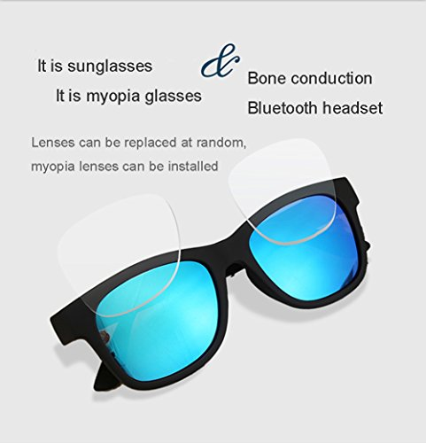Reemp Para Mejorada De Multifuncionales Auriculares Bluetooth Gafas Conducción Polarizadas De Miopía De Versión Inalámbricas Inteligentes Gafas Audífonos Música Estéreo Auriculares Ósea Sol Lentes Los gaTPYxw