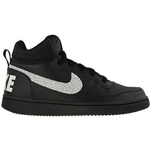 Court 001 White Sneakers Schwarz Mid Herren GS Borough Nike Black OznFxqPf