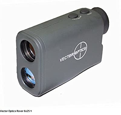 TAC Vector Optics 6x25 Laser Ranger Finder Monocular 650M/Y Rangefinder Color Green by TAC Vector Optics