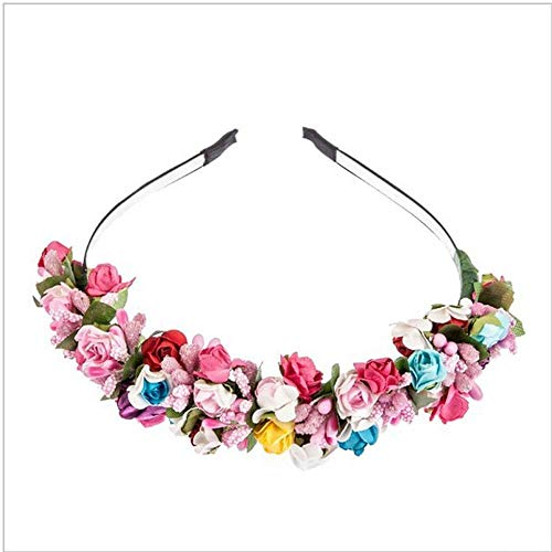 Headband Flower Garland Floral Bride Headband Party Wedding Festival Decor