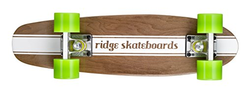 Ridge Skateboards Mini Maple Dark Dye Number 4 Retro Cruiser Skateboard