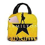 Unisex Lunch Box Portable Insulated Bento Box Custom Rugged Snack Bag Multi-fonction Zipper Handbag For Travel Office Outdoor (Alexander Lin Manuel-Miranda Hamilton, One Size)