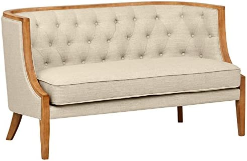 Stone & Beam Laurel Rounded Loveseat Sofa Settee Couch, 57.1