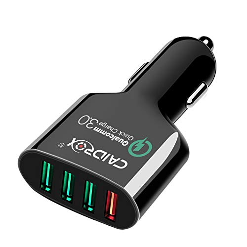 Car Charger, CAIDROX 54W 4-Port Quick Charge 3.0 USB Car Charger Adapter Compatible with Samsung Galaxy S9 Plus S8 S7 S6 Note 8, iPhone Xs X 8 7 6S 6 Plus,iPad, Nintendo Switch and More