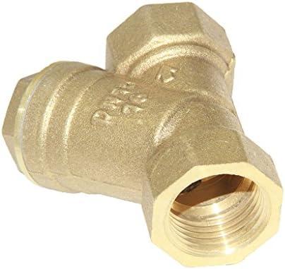 真ちゅう フィルター バルブ Y型 ストレーナバルブ ホース チューブ コネクタ 全2サイズ - ゴールデンdn15