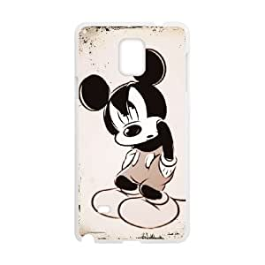 Samsung Galaxy Note 4 Cell Phone Case White Disney Mickey Mouse Minnie Mouse Phone cover G2700208