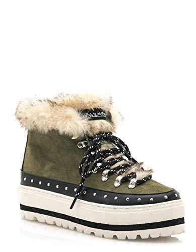Seven Kaky Boots Green Fur By Sixty Khaki Sixtyseven SvdBxSW