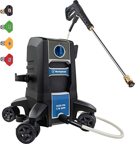 Westinghouse ePX3000 Electric Pressure Washer 2030 PSI MAX 1.76 GPM with Anti-Tipping Technology, ePX3000, Soap Tank and 4-Nozzle Set