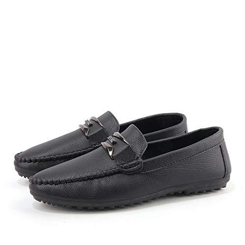 Persona Iwgr Conduce Hombres Holgazán El Que Suela Suave Perezosa Transpirable Hombre Formales De Negro Mocasines Barco Casual Ocio Semi Cuero Zapatos fPrfqBHn