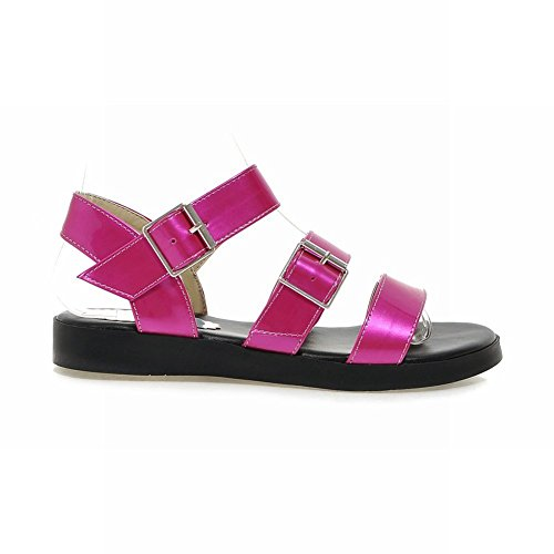 Flats Charm Strap Foot Open Sandals Buckle Rose Ankle Womens Toe vTSvr07