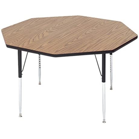 Correll A48 OCT 16 1 25 In High Pressure Top Activity Tables 48 In Octagonal Fusion Maple
