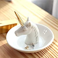 PUDDING CABIN Ring Dish Ring Holder for Girls Women Thanksgiving Gift Bridesmaid Gift Wedding Gift Engagement Ring Holder Unicorn Cat Gift