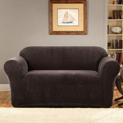 SureFit Stretch Metro 1-Piece - Sofa Slipcover  - Espresso (SF39407)