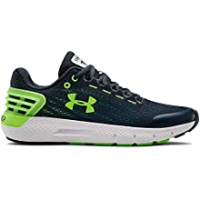 UNDER ARMOUR Boys' Grade School Charged Rogue Sneaker, Wire (403)/White, 7