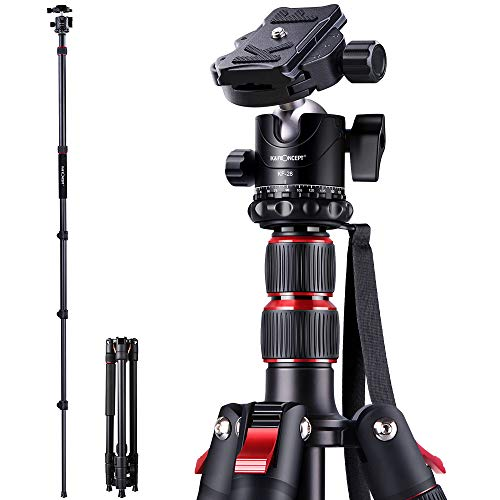 K&F Concept 78 inch Camera Tripod for DSLR Compact Aluminum Tripod with 360 Degree Ball Head and 8kgs Load for Travel and Work
