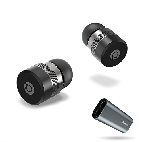 Rowkin Bit Charge Touch Control True Wireless Earbuds: 50+ Hours, Bluetooth 5, Smallest Headphones & Charging Case, Deep Bass Driver, Mic, Quick Pairing & Noise Reduction For Android Samsung & iPhone