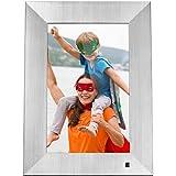 NIX X10J - Metal Lux 10.1'' Hi-Res Digital Photo & HD Video Frame (Non-Wi-Fi), with Hu-Motion Sensor