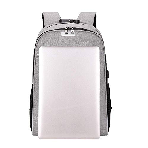 Casual coloré Sac Intercalaire Rouge Business Souple Unisexe Dos Bag D'ordinateur De Usb Gris À Voyage Qiusa wAOCtHqH