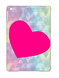Heart Pink Graphic Holidays Occasions Valentine's Day TPU Black Pink Heart Case Cover For Ipad Air